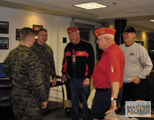Marines at Mercy Hall for Holiday Cheer