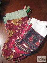 the stockings made by Bayside Quilters