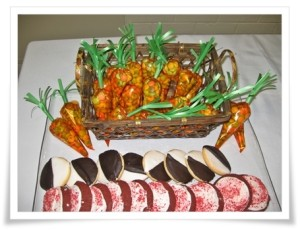 Easter carrots and cookies