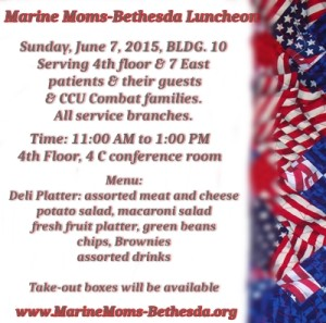 June 7 Luncheon Menu