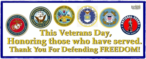 This Veterans Day, Honoring those who have served. Thank you for defending FREEDOM!