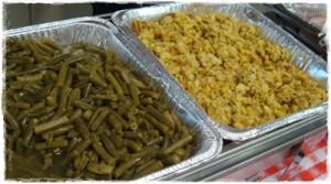 green beans and stuffing