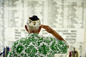 USS Arizona Memorial 50th anniversary commemoration ceremony