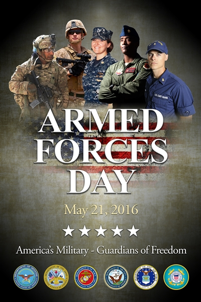 Armed Forces Day poster, May 26, 2016