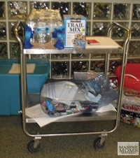 cart of stuff for the hospital