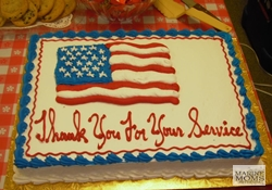 Thank you for your service cake