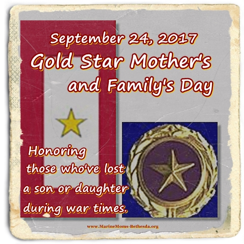 Gold Star Mothers and familys Day 2017 with pi and banner
