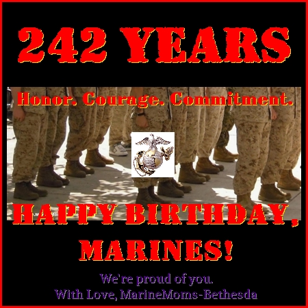 242 Years, Happy Birthday Marines!