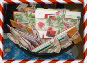 Cards all wrapped up in cheery ribbon!