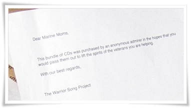Note from the Warrior Song Project